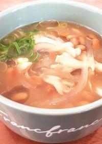 痩せそう?!舞茸と納豆と玉ねぎの味噌汁♡