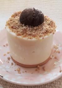 マシュまろんクリームでレアチーズケーキ