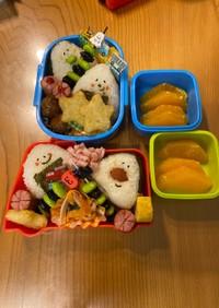 5歳と3歳のお弁当(マラソン大会)