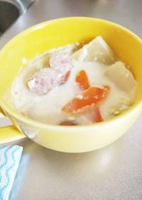 糖質制限!白菜の豆乳生姜スープ