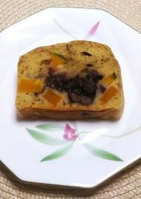 南瓜と小豆の抹茶パウンドケーキ