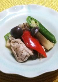 豚肉と彩り野菜のオニオンソース炒め