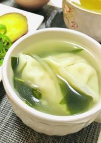 水餃子のような餃子スープ・中華スープ
