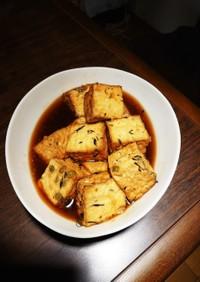 五目厚揚げの生姜醤油甘辛煮