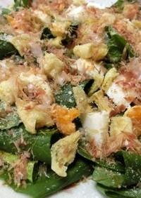 簡単美味しい♪小松菜の和風シーザーサラダ