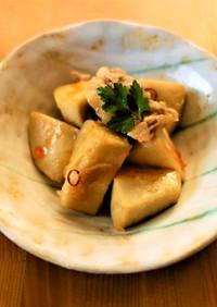 里芋のピリ辛炒め