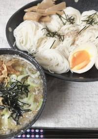 ラーメン屋さんの鰹つけ麺風素麺