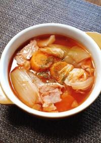 キャベツとベーコンのトマトスープ