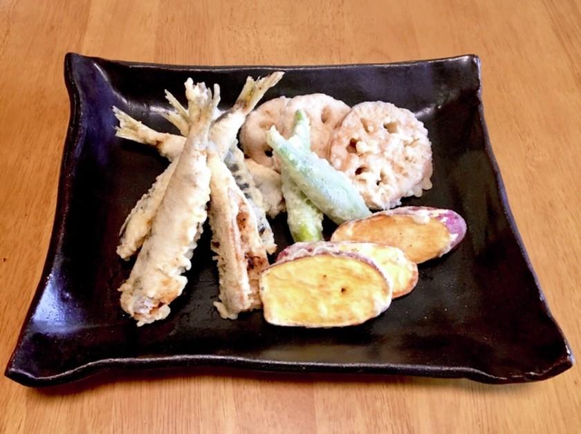 タツエばあば流!美味!小鰯と野菜の天ぷら
