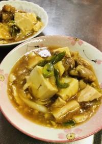 鶏肉と豆腐のすき焼き風炒め