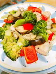 鶏ささみとごろごろ野菜のマキシマム炒めの写真