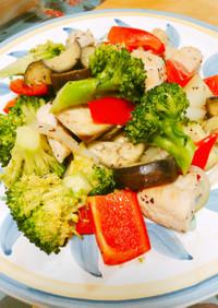 鶏ささみとごろごろ野菜のマキシマム炒め