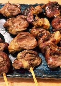 【キャンプ飯】鶏ハツ 塩麹にんにく焼き鳥