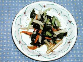 長芋とわかめのサラダ