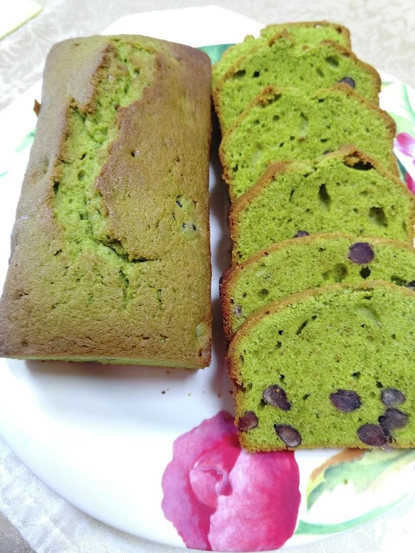 抹茶甘納豆入りパウンドケーキ