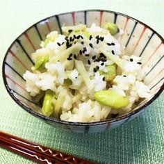 枝豆と新生姜の炊き込みご飯