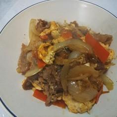 簡単メイン♪豚肉と卵のオイスター炒め