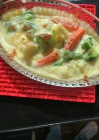 洋風野菜のホワイトグラタン
