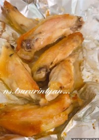 ガーリック醤油 手羽中のオーブン焼き