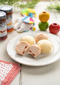 離乳食後期〜米粉と豆乳のフルーツ蒸しパン