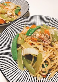 簡単!白菜とたっぷり野菜のヘルシーパスタ
