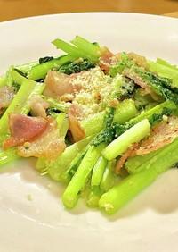 洋風の小松菜^_^   タロの弁当番外編