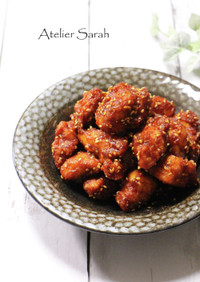 鶏胸肉で簡単♪韓国風ヤンニョムチキン