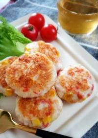 カニかまコーンのはんぺんチーズ焼き
