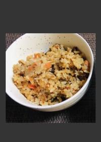 ずぼらの簡単余ったブリ大根で炊き込みご飯