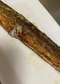 フライパンで秋刀魚の塩焼き