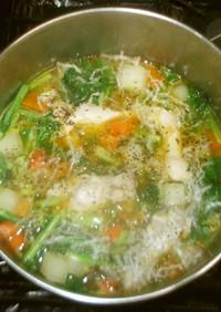 ミネラルボーン糸寒天スープ♪簡単漢方薬膳