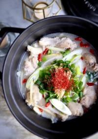 手羽元で簡単参鶏湯風スープ(サムゲタン)