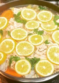 豚バラの塩レモン鍋