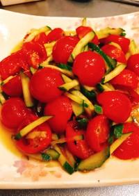 トマトと玉ねぎのハニーマリネorカプレーゼ