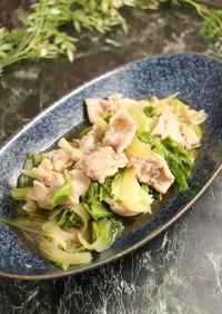 簡単!豚肉とキャベツの外葉の煮物