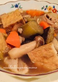 ご飯がすすむ なすと厚揚げの煮物