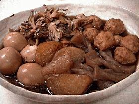 大根とゆで卵、つくねのコトコト煮