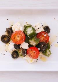 簡単前菜♪フェタチーズとトマトのサラダ