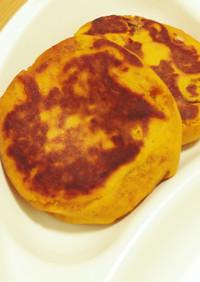 煮物南瓜のチーズ入り芋餅風