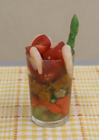 彩り夏野菜の爽やかゼリー寄せ