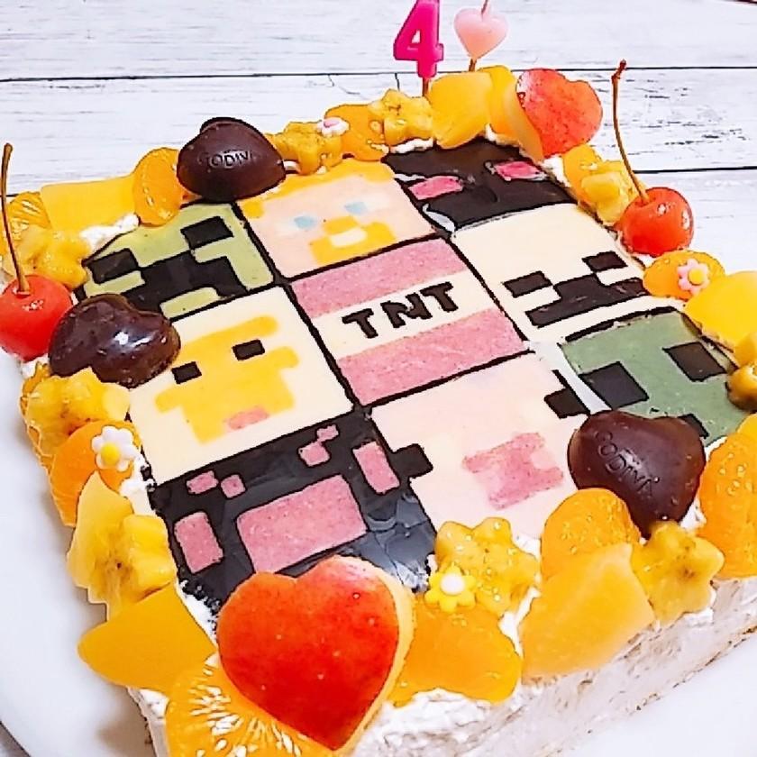 マイクラでお祝い♡BIRTHDAYケーキ