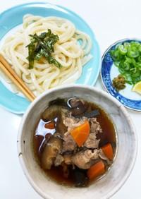 豚肉根菜たっぷりつけ麺(うどん蕎麦でも)