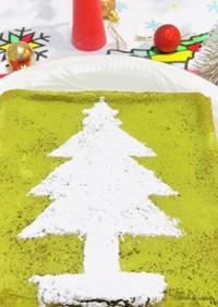 クリスマスに抹茶チーズケーキタルト