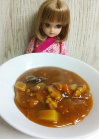 リカちゃん♡鉄分補給ドライフルーツカレー