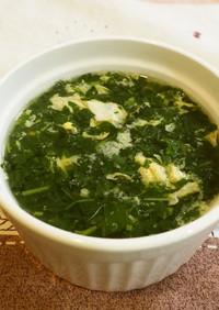 シンプル*モロヘイヤと卵のスープ