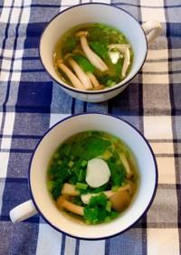 蕪としめじの和風スープ