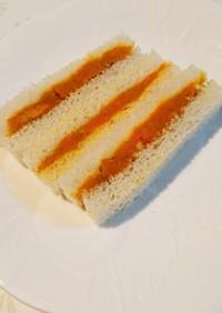 9~10ヶ月離乳食 カボチャサンドイッチ