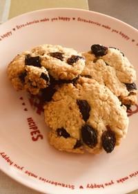 砂糖不使用♡レーズンパン粉クッキー
