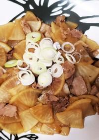 節約つまみ❀大根、豚肉の簡単炒め
