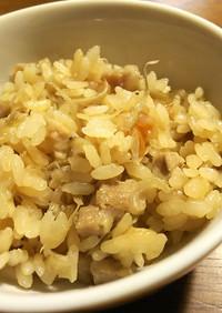 鶏とゴボウの炊き込みご飯